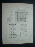 ARCHITECTURE..GRAVURE De 1898..VILLA à SAINT MAURICE ( 94) .. Architecte M. BREGERE - Architecture