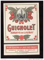Etiquette  De Guignolet   -  Abbaye De Launay à Nantes (44) - Labels