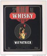 Etiquette De Spiritueux Au  Whisky   -  W.O Patrick  -   France   (thème Militaire) - Whisky
