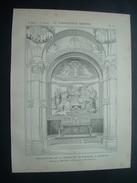 ARCHITECTURE..GRAVURE De 1898..DECORATION De La CHAPELLE Du ROSAIRE, à LOURDES (65)..Peinture De DOZE. Mosaïque FACCHINA - Architecture