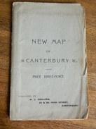 CANTERBURY:NEW MAP OF CANTERBURY-ANNEES 30 ???? - Altri