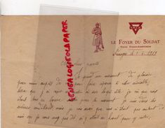87 - LIMOGES- LETTRE PAUL DECOU LE FOYER DU SOLDAT -UNION FRANCO AMERICAINE- YMCA-5 AVRIL 1919- GUERRE 1914-1918 - Historical Documents