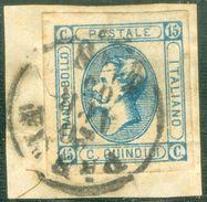 Italy 1863 Effige V. Emanuele Medaglione 15 C. - Lot. RE12 - 1861-78 Vittorio Emanuele II