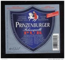 Etiquette D'Eau Minérale   -  Prinzenburger  0.75 L - Labels