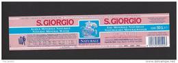 Etiquette D'eau Minérale Frizzante    -   S. Giorgio  -  Sorgente Mitza Mighell   Zinnigas - Labels
