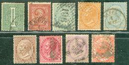 Italy 1863 Serie Dela Rue - Lot. RE14-22 - 1861-78 Vittorio Emanuele II