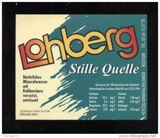 Etiquette D'Eau Minérale  -  Lohberg - Labels
