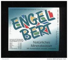 Etiquette D'Eau Minérale   -   Engelbert - Labels