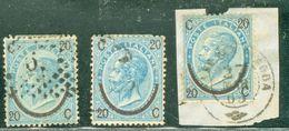 Italy 1865 Sovrastampa Ferro Di Cavallo 1°+2°+3° Tipo - Lot. RE23-25 - Usati