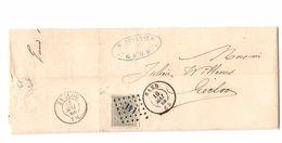 TP 17 S/LAC Facture Feyerick Filature Lin & Etoupes LOS 141 C.Gand 16/5/1868 V.Eecloo C.d'arrivée PR4770 - Postmarks - Points