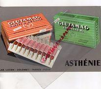 92- COLOMBES- RARE BUVARD LABORATOIRE LUCIEN - PHARMACIE ASTHENIE- GLUTAMAG VITAMINE B1 - Chemist's