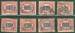 Italy 1878 Sovrastampati 2 C - Lot. RE29-36 - 1861-78 Vittorio Emanuele II