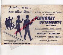 59 MALO LES BAINS-DUNKERQUE-BUVARD FLANDRES VETEMENTS-MAISON DELEERSNYDER-SURALO-BLIZZAND-COSTUMES TISSTRIC - Textile & Clothing