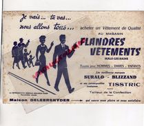 59 MALO LES BAINS-DUNKERQUE-BUVARD FLANDRES VETEMENTS-MAISON DELEERSNYDER-SURALO-BLIZZAND-COSTUMES TISSTRIC - Textile & Vestimentaire