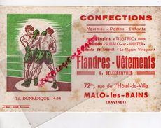 59 MALO LES BAINS-DUNKERQUE-RAVINET-BUVARD FLANDRES VETEMENTS-MAISON DELEERSNYDER-SURALO-BLIZZAND- TISSTRIC-BOXE - Textile & Vestimentaire