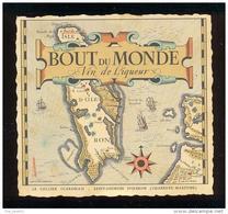 Etiquette De Vin De Liqueur - Bout Du Monde-Le Cellier Oléronais à  St Georges D'Oléron (17) -Thème Carte  Géographique - Labels