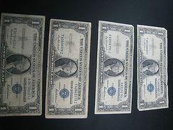 $1 SILVER CERTIFICATE  1935F SERIES  SET OF 4    (4K50-7) - Silver Certificates (1928-1957)