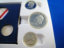 1976 US BICENTENNIAL 3 COIN SILVER PROOF SET   (dps4) - Federal Issues