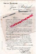 66 - PERPIGNAN- BUVARD JEAN RAYNAL -VINS DU ROUSSILLON-PROPRIETAIRE VITICULTEUR CHEVALIER DU MERITE AGRICOLE - Food