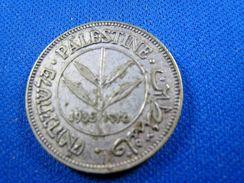PALESTINE - 1935 50 MILS SILVER COIN   (skp1) - Coins