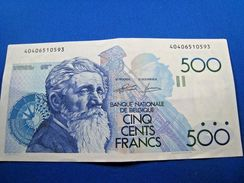 BELGIUM 1982 500 FRANCS BANKNOTE  (mr) - [ 2] 1831-... : Belgian Kingdom