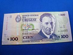 URUGUAY  1994  $100 BANKNOTE  CU  (mr) - Banknotes