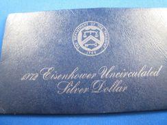 1972 EISENHOWER UNCIRCULATED SILVER DOLLAR      (dpsms6) - 1971-1978: Eisenhower