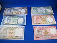NEPAL  1980s  BANKNOTES - SET OF 6  CU     (mr) - Banknotes