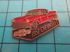 Pin811i Pin's Pins / Beau Et Rare : AUTOMOBILES  / CHEVROLET ROUGE DE 1957 - Corvette