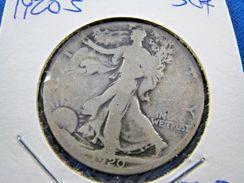 1920S  WALKING LIBERTY HALF DOLLAR                 (sk50-17) - Federal Issues