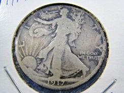 1917  WALKING LIBERTY HALF DOLLAR                 (sk50-1 - Federal Issues