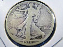 1918S  WALKING LIBERTY HALF DOLLAR                 (sk50-10) - Federal Issues