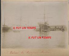 13 MARSEILLE - 2 PHOTOS Du Port De Marseille En 1897  - RARES - Marseille