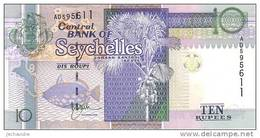 SEYCHELLES   10 Rupees  Non Daté (1998)  Pick 36    ***** BILLET  NEUF ***** - Seychelles