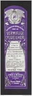 Etiquette Vermifuge Cruveilher  -   Parmacie Règionale J. Brunot  (1897/1906)  à Limoges (87) - Labels