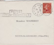 FRANCE 1915 LETTRE POSTE AUX ARMEES SEMEUSE CAMEE YT 146 - 1906-38 Sower - Cameo