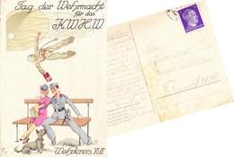 """Deutsches Reich 1942, Feldpostkarte """"Fallschirmjäger"""" - Deutschland"""