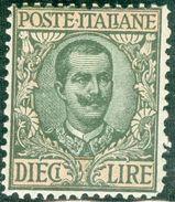 Italy 1910 V.E. III Floreale 10 L. MNH** - Lot. RE91 - 1900-44 Victor Emmanuel III
