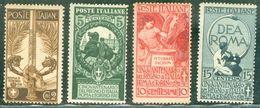 Italy 1911 Unità D'Italia MH* - Lot. RE92-95 - 1900-44 Victor Emmanuel III