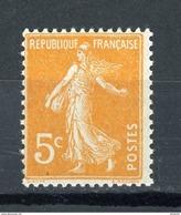 FRANCE -  5c JAUNE TYPE SEMEUSE - N° Yvert 158 ** - 1906-38 Semeuse Camée