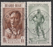785/786  Dokwerker & Weerstander/Monument De La Libération à Anvers Etla Rèsistance à Liège Oblit/centrale - Belgien