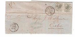 TP 17(2) S/LAC LOS 87 C.Coutrai 12/2/1868 V.Eecloo C.d'arrivée PR4774 - Postmarks - Points