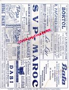 MAROC-CASABLANCA- RARE BUVARD CLAMOR-69 BD RESISTANCE -BORTOL ALGERIE-BATA-FITEXA-ECOLE PIGIER-DABI-AU LANDAU-LE LYS - Blotters