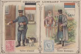 Chromos - Chocolat Thé Lombart - Facteur Poste - Allemagne - Montenegro - Lombart