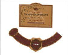 """Etiquette De CHAMPAGNE """" A Charbaut - Cuvée Spéciale An 2000 """" - Champagne"""