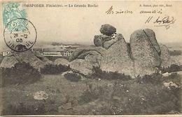 - Finistere - Ref-D771- Porspoder - La Grande Roche -  Megalithe - Megalithes - Petit Plan Brulage Du Goemon - - France