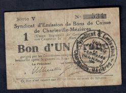 Bon D'un Franc De Charville Meziers  Lotto 067 - ...-1889 Circulated During XIXth