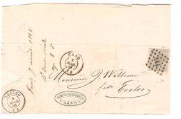 TP 17 S/LAC Edmond Vandemale Fils De Lin & Etoupes Gent LOS 141 C.Gand 7/4/1868 V.Eecloo C.d'arrivée PR4775 - Postmarks - Points