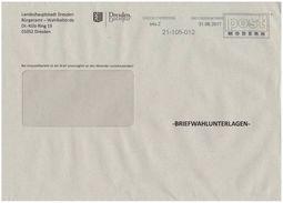 Bund / Post Modern [01129 Dresden]: Stempel 'Dresden - Bundestagswahl 2017' / Cancel 'Mirrored Text' - Privados & Locales