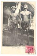 SRI LANKA - CEYLON - HOMMES INDIGENES DE CEYLON - CPA ETHNIQUE PRECURSEUR, CIRCULEE EN 1904 - TB ** - Sri Lanka (Ceylon)